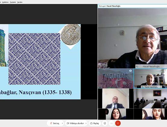 """Türkiyəli professor Naxçıvan Dövlət Universitetində """"Kristalloqrafik naxışlar"""" adlı vebinar keçib"""