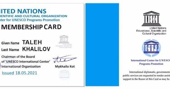 Naxçıvan Dövlət Universitetinin müəllimi UNESCO-nun muxtar respublika üzrə ilk üzvü seçilib