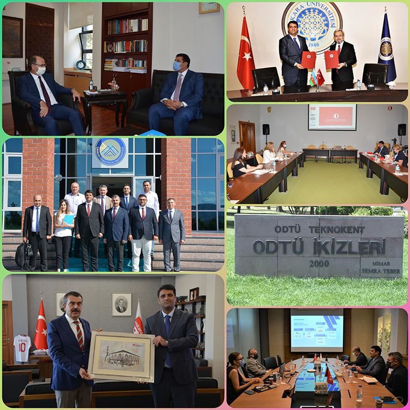Naxçıvan Dövlət Universiteti ilə Türkiyə Universitetləri arasında beynəlxalq əməkdaşlıq gücləndirilir